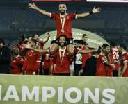 Al Ahly celebrating winning the African Champions League in 2020