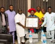 Joseph Luminary Adzrago honoured with Thomas Sankara Leadership Award of Excellence