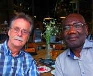 Scientist Johan Van Dongen and the Ghanaian-Belgian writer, Joel Savage