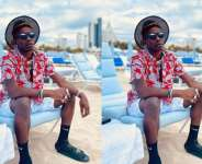 Shatta Wale spotted chilling at an expensive beach of Miami