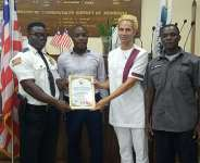 Mayor Koijee Receives Certificate of Appreciation From Liberian Ambassador-at-Large To Italy