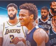 LeBron James' son Bronny reacts to Nets signing LaMarcus Aldridge