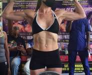 Female boxers thrill at Cahaya Lounge as Lucy Wildheart wins over  Flora Machela on points