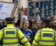 Chelsea fans protest outside Stamford Bridge  Image credit: Getty Images