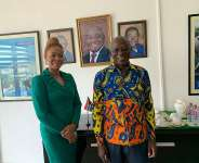The Ahafo Regional Minister holds business meeting with South African High Commissioner