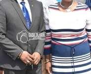 ASU President Abigail Twumasiwaa Okanta congratulates Ben Nunoo Mensah