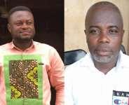 Hon Gideon Okai, left and Hon Matthew Amissah