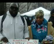 Rashad McCrorey and the mother of Eric Garner at 2014 March on Washington, DC