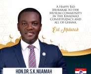 Have a Joyous Eid-ul-Adha Celebrations - Kwadaso MP