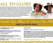 CALL TO GLORY: Hannah Efua Abban And Dorcas Efua Abban