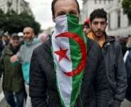 Algerians marched in the capital on the second anniversary of the anti-government