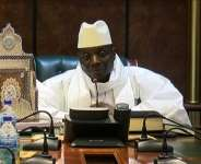 An image grab taken on December 3, 2016 from a video of the Gambia and Television Services (GRTS) broadcasted on December 2, 2016, in Banjul shows outgoing Gambian President Yahya Jammeh speaking during a press conference after being defeated during the presidential election..  By Handout (GRTS - Gambia Radio and Television Services/AFP/File)