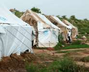 Ethiopia's Hitsats refugee camp, along with the camp of Shimelba, was allegedly destroyed by Eritrean and Ethiopian troops.  By VINCENT DEFAIT (AFP/File)