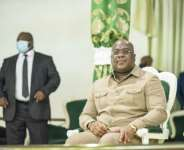 Felix Tshisekedi (R) has grabbed the levers of power from his predecessor Joseph Kabila in recent months.  By Arsene Mpiana (AFP/File)