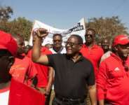 Lazarus Chakwera, seen here campaigning in June 2019, was elected president of Malawi after a rare do-over election.  By AMOS GUMULIRA (AFP/File)