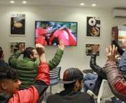 Libyan football fans watched the first home international match held in the country since 2014, played against Tunisia, at cafes in the eastern city of Benghazi.  By Abdullah DOMA (AFP)