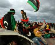 Libyans in February marked a decade since the 2011 revolution.  By Abdullah DOMA (AFP)