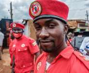Police said pop star-turned-MP Bobi Wine had been arrested for violating coronavirus measures at his rallies.  By SUMY SADURNI (AFP/File)