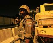 The African Union's peacekeeping mission in Somalia (AMISOM) on a night-time patrol in Mogadishu..  By Tina SMOLE (AFP/File)