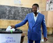 Togo's long-time leader, Faure Gnassingbe, casting his vote in presidential elections in February.  By PIUS UTOMI EKPEI (AFP)