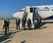 US President Donald Trump's son-in-law and advisor Jared Kushner (L) and Israeli National Security Advisor Meir Ben Shabbat leave the plane in Rabat.  By - (US EMBASSY IN MOROCCO/AFP)