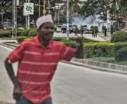 Zanzibar has swarmed with police and soldiers during the elections.  By MARCO LONGARI (AFP)