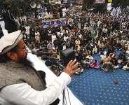Hafiz saeed addressing a mob