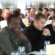 Real Zaragoza Host Ghana Striker Raphael Dwamena At End Of Year Party [VIDEO]
