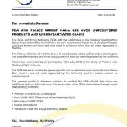 FDA, Police Arrest 'Mama Gee' Over Unregistered Products