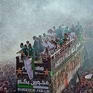 AFCON 2019: Thousands Welcome Algeria Team After AFCON Triumph [PHOTOS]