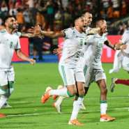 Algeria players celebrate their victory over Senegal in the Africa Cup of Nations final.  By Giuseppe CACACE (AFP)