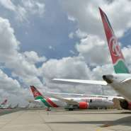 Grounded: Kenya has banned international flights since March 25.  By TONY KARUMBA (AFP)