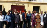 Chief Justice Sophia A.B. Akuffo and her entourage, including US Ambassador, at the Ho Central Prisons