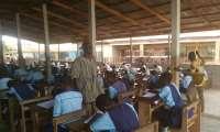 Hon.Kofi Adjei at one of the Examination Centres
