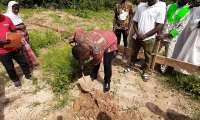 Hon PH Amponteng breaks ground for construction to commence