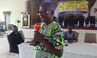 Tano South Municipal Agric Director addressing the participants