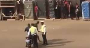 Sunyani: Adam Bonaa Want Police Spotted Beating Men Over Funeral Attire Arrested