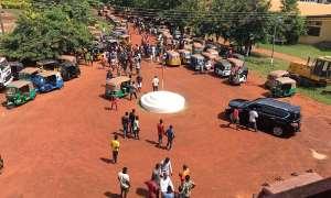 Pragya Riders Demonstrate In Techiman Over Arrest Of Colleagues