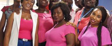 Photos: Tigo staff celebrate 'Pink Friday' to climax breast cancer awareness month