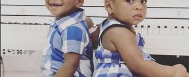 Paul Okoye's Twins Slay in Uniformed Outfit