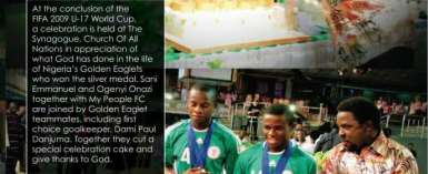 Nigerian Footballer Reveals Plot Against TB Joshua