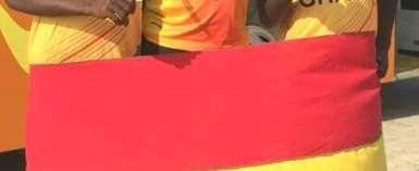 Ghana Beach Volleyball Star Carboo Thanks SWAG