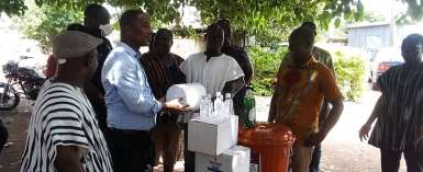 Adaklu MP, Kwame Governs Agbodza, donates to support the fight against Convid-19