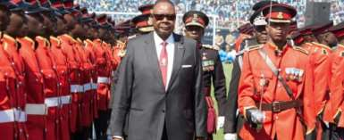 Mutharika narrowly secured a second term in May elections.  By AMOS GUMULIRA (AFP)