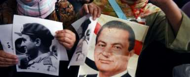 The pro-Mubarak Facebook page was created the same month the ex-president was overthrown, following a popular uprising that shook Egypt at the height of the Arab Spring.  By MOHAMED EL-SHAHED (AFP/File)
