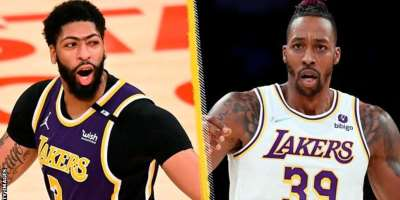 Davis and Howard coulkd not prevent a second successive defeat for the Lakers