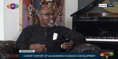 Ayikoi Otoo talks about contributions of Ga-Dangme's to Ghana's development