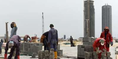 Gender discrimination and dominance of male culture top the list of constraints that women face in entering the construction industry.  - Source: Pius Utomi Ekpei/AFP via Getty Images