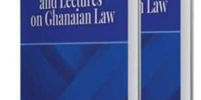 Book Review: Selected Papers And Lectures On Ghanaian Law