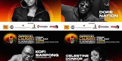 Celestine Donkor, Wendy Shay, Kofi Sarpong, Fameye, Dope Nation others to perform at GMA UK launch